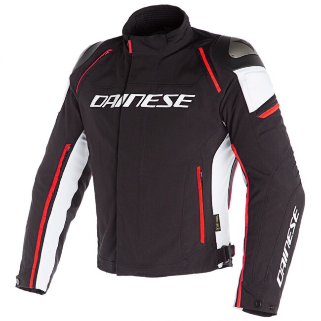 CHAQUETA Dainese Racing 3 D-Dry Black / White / Fluo-Red